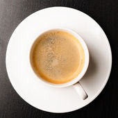 Cup of fresh espresso — Stock Photo
