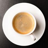 šálek čerstvé espresso — Stock fotografie
