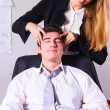 Stock Photo: Making head massage