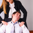 Stock Photo: Seducing a boss