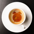 Alarm on cup of fresh espresso — Stock Photo #24504557