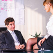 Seducing a boss - Stock Photo