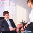 Seducing a boss — Stock Photo #24507869