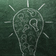 Bulb of ideas — Stock Photo