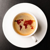 Cup of fresh espresso — 图库照片
