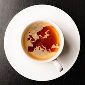 кубок свежий эспрессо — Стоковое фото