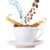 Splashing coffee — Stock Photo