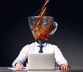 получение энергии с кофе — Стоковое фото