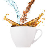 Splashing coffee — Stock Photo