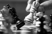 Piezas de ajedrez de madera — Foto de Stock