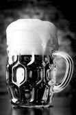 Glass of lager — Stock Photo