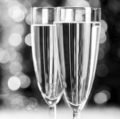 Champagne at christmas party — Stock Photo