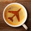 Cup of fresh espresso on table — Stock Photo #27820141