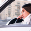 Woman is resting in a car — Stock Photo #27830369