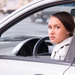 Young woman in a car — Stock Photo #29005247