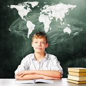 Menino de escola — Fotografia Stock