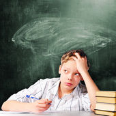 Sad school boy — Stock Photo