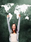 Aufgeregt Studenten — Stockfoto