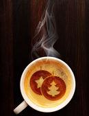 圣诞咖啡 — 图库照片