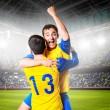 Постер, плакат: Soccer players