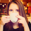 Stockfoto: Woman in cafe