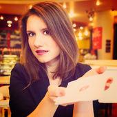 Vrouw is flirten — Stockfoto