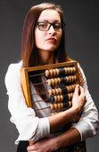 Usmívající se žena podnikání — Stock fotografie