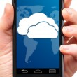 Cloud touch screen phone — Stock Photo #42830157