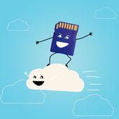 Cloud storage. — Stock Photo
