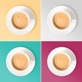 Neat coffee cups — Stock Photo