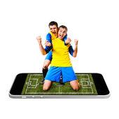 Fútbol móvil — Foto de Stock