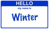Name winter — Stock Photo