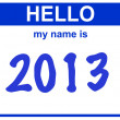 Name 2013 — Stock Photo