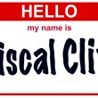 Hello my name is fiscal cliff — Stock Photo