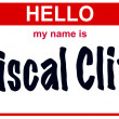 Hello my name is fiscal cliff — Stock fotografie