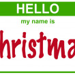 Name christmas — Stock Photo