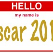 Hello my name is oscar - 图库照片
