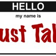 Name just talk — Stock Photo #16976805