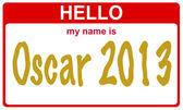 Hello my name is oscar — Stock Photo