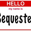 Name sequester — Stock Photo #26045051