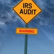 Warning irs audit post sign — Stock Photo #26045549