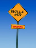 Fiscal cliff ahead — Stock Photo