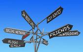 Sociální sítě znamení — Stock fotografie