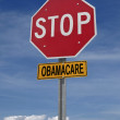 Stop obamacare ahead conceptual post — Stock Photo #30168123