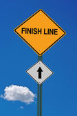Finish line ahead — Stock Photo