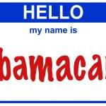 Hello my name obamacare — Stock Photo #33674405