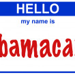 Hello my name obamacare — Stock Photo