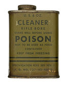 Vintage rifle cleaner bore can — Stock Photo
