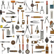 Vintage tools and utensils — Stock Photo
