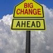 Stock Photo: Big change ahead roadsign